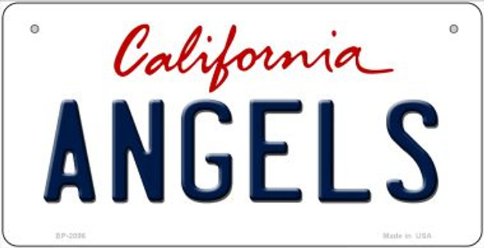 Angels California Wholesale Novelty Metal Bicycle Plate BP-2096
