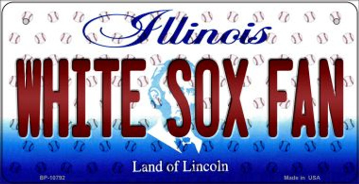 White Sox Fan Illinois Wholesale Novelty Metal Bicycle Plate BP-10792