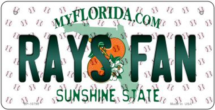 Rays Fan Florida Wholesale Novelty Metal Bicycle Plate BP-10798
