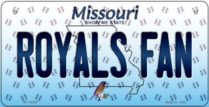 Royals Fan Missouri Wholesale Novelty Metal Bicycle Plate BP-10807