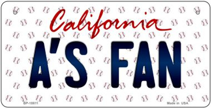 As Fan California Wholesale Novelty Metal Bicycle Plate BP-10811