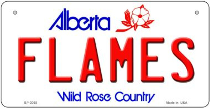 Flames Alberta Wholesale Novelty Metal Bicycle Plate BP-2065