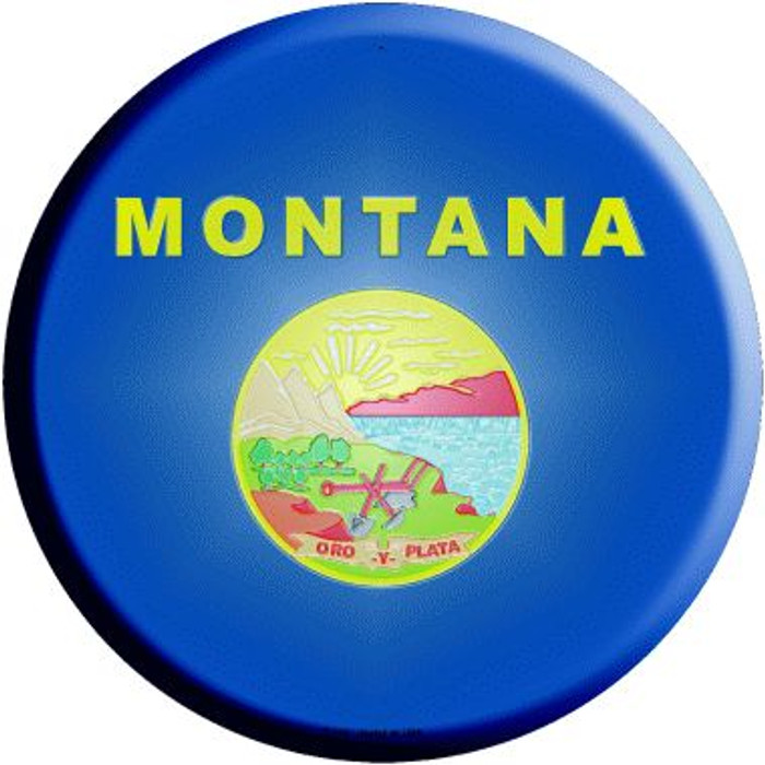 Montana State Flag Wholesale Metal Circular Sign