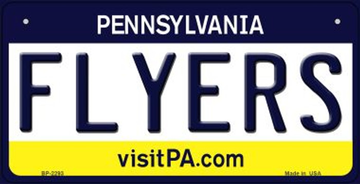 Flyers Pennsylvania Wholesale Novelty Metal Bicycle Plate BP-2293