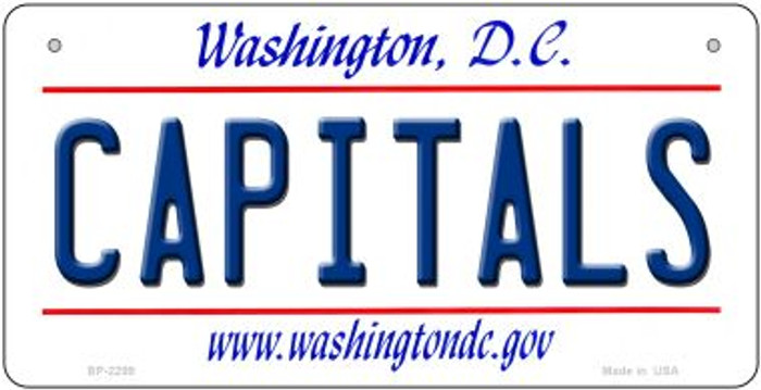 Capitals Washington DC Wholesale Novelty Metal Bicycle Plate BP-2299