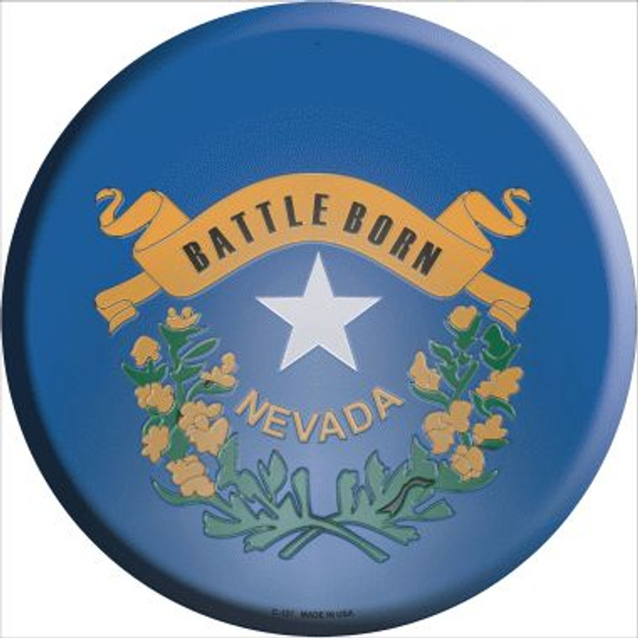 Nevada State Flag Wholesale Metal Circular Sign