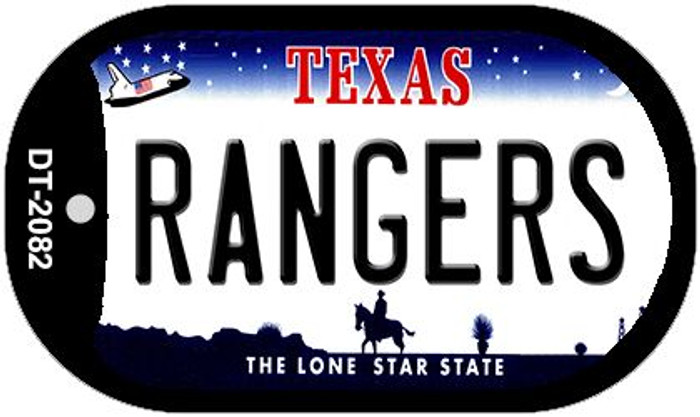 Rangers Texas Wholesale Novelty Metal Dog Tag Necklace DT-2082