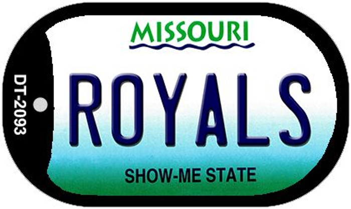 Royals Missouri Wholesale Novelty Metal Dog Tag Necklace DT-2093