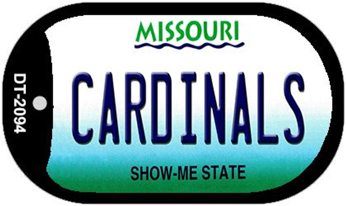 Cardinals Missouri Wholesale Novelty Metal Dog Tag Necklace DT-2094