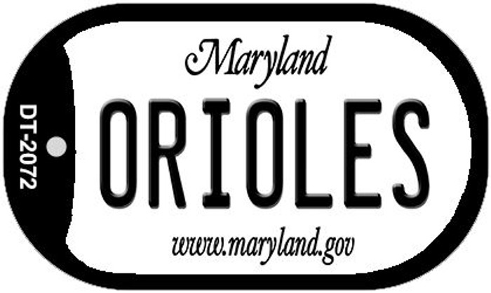 Orioles Maryland Wholesale Novelty Metal Dog Tag Necklace DT-2072