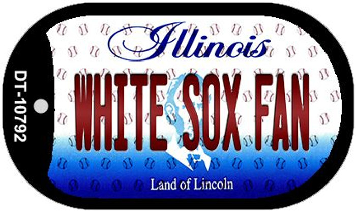 White Sox Fan Illinois Wholesale Novelty Metal Dog Tag Necklace DT-10792