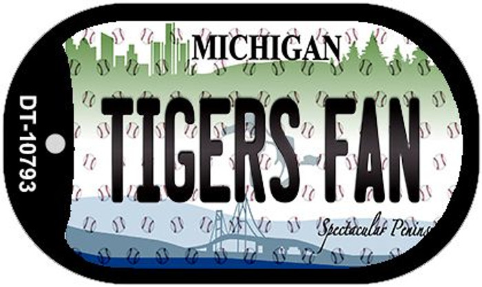 Tigers Fan Michigan Wholesale Novelty Metal Dog Tag Necklace DT-10793
