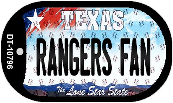 Rangers Fan Texas Wholesale Novelty Metal Dog Tag Necklace DT-10796