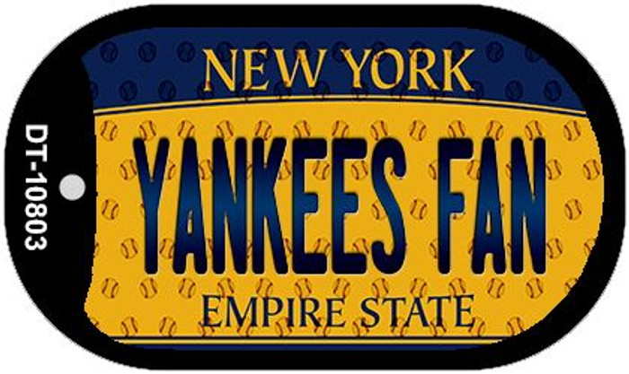 Yankees Fan New York Wholesale Novelty Metal Dog Tag Necklace DT-10803
