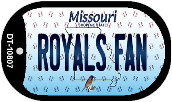 Royals Fan Missouri Wholesale Novelty Metal Dog Tag Necklace DT-10807