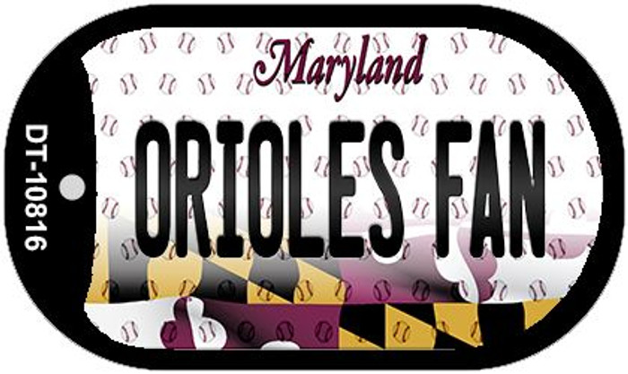 Orioles Fan Maryland Wholesale Novelty Metal Dog Tag Necklace DT-10816