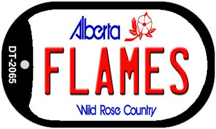 Flames Alberta Wholesale Novelty Metal Dog Tag Necklace DT-2065