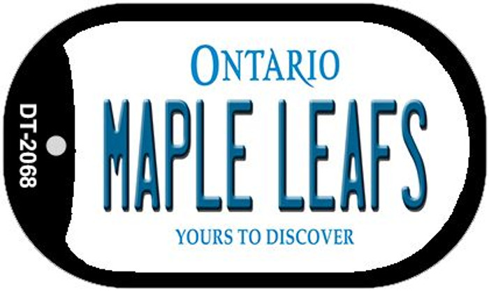Maple Leafs Ontario Wholesale Novelty Metal Dog Tag Necklace DT-2068