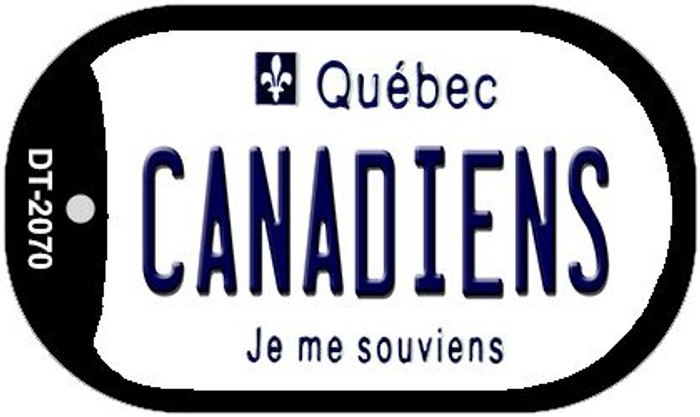 Canadiens Quebec Wholesale Novelty Metal Dog Tag Necklace DT-2070