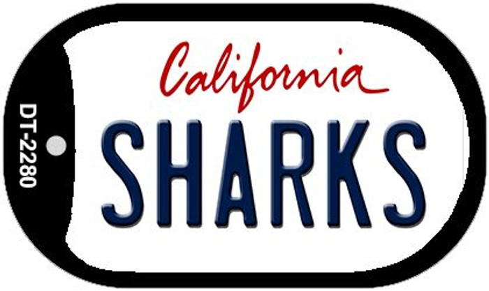 Sharks California Wholesale Novelty Metal Dog Tag Necklace DT-2280