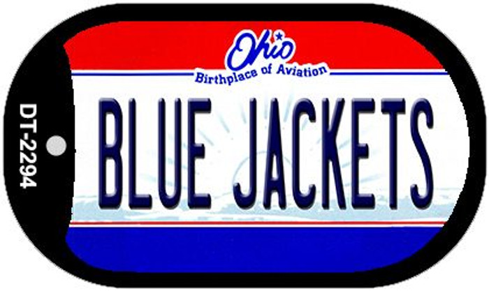 Blue Jackets Ohio Wholesale Novelty Metal Dog Tag Necklace DT-2294