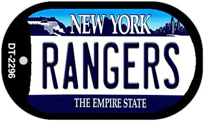 Rangers New York Wholesale Novelty Metal Dog Tag Necklace DT-2296