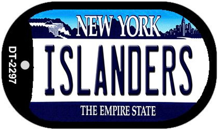 Islanders New York Wholesale Novelty Metal Dog Tag Necklace DT-2297