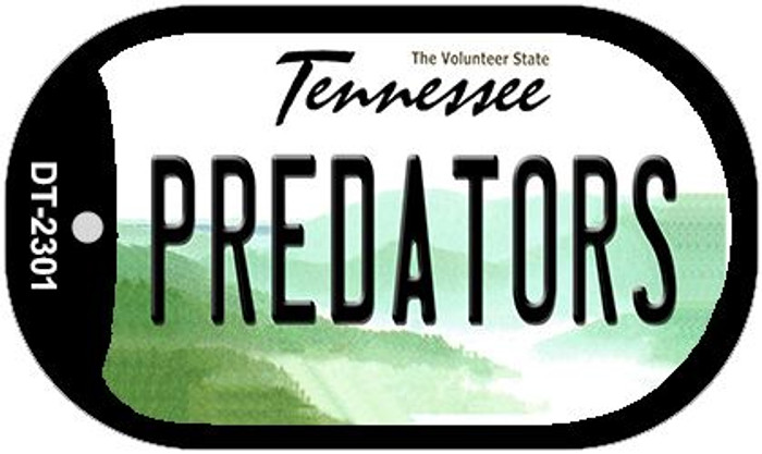 Predators Tennessee Wholesale Novelty Metal Dog Tag Necklace DT-2301