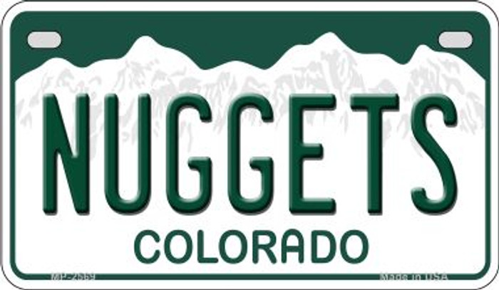 Nuggets Colorado Wholesale Novelty Metal Motorcycle Plate MP-2569