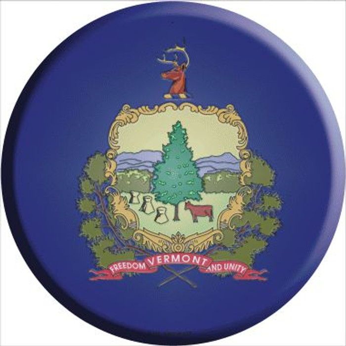 Vermont State Flag Wholesale Metal Circular Sign