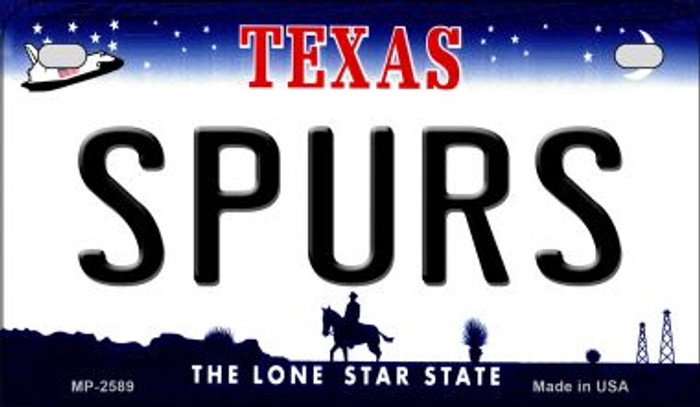 Spurs Texas Wholesale Novelty Metal Motorcycle Plate MP-2589