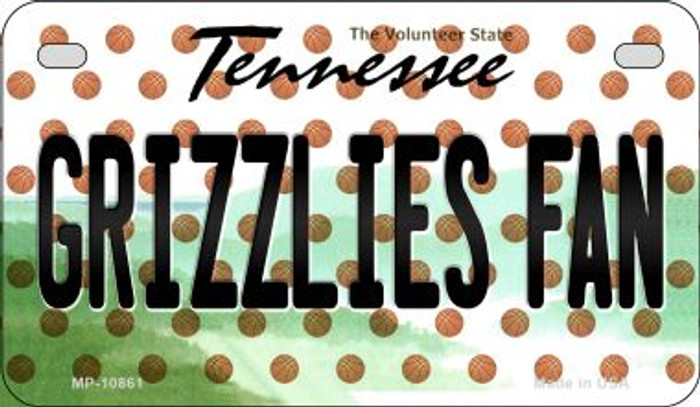 Grizzlies Fan Tennessee Wholesale Novelty Metal Motorcycle Plate MP-10861