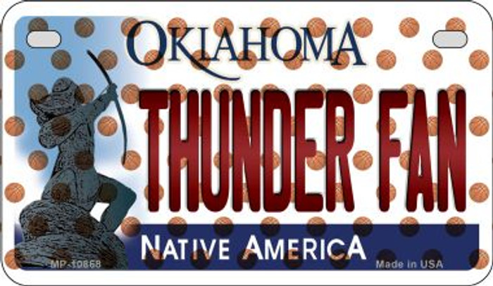 Thunder Fan Oklahoma Wholesale Novelty Metal Motorcycle Plate MP-10868