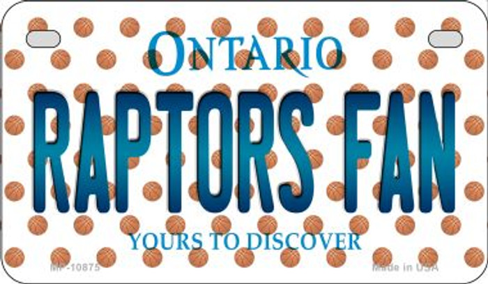 Raptors Fan Ontario Wholesale Novelty Metal Motorcycle Plate MP-10875