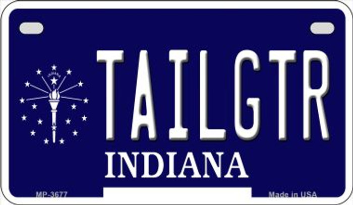 Tailgtr Indiana Wholesale Novelty Metal Motorcycle Plate MP-3677