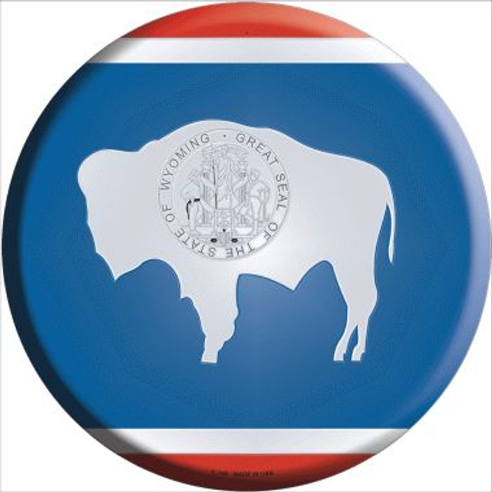 Wyoming State Flag Wholesale Metal Circular Sign