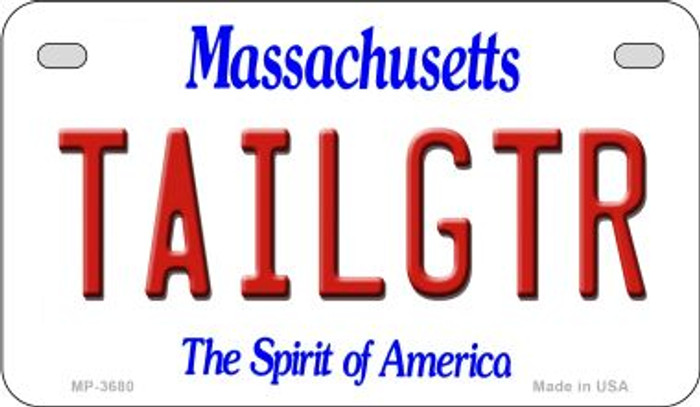 Tailgtr Massachusetts Wholesale Novelty Metal Motorcycle Plate MP-3680