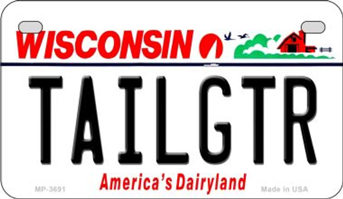 Tailgtr Wisconsin Wholesale Novelty Metal Motorcycle Plate MP-3691