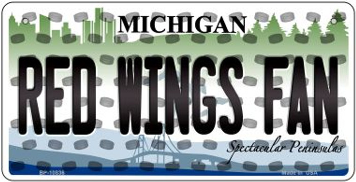 Red Wings Fan Michigan Wholesale Novelty Metal Bicycle Plate BP-10836