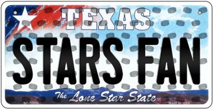 Stars Fan Texas Wholesale Novelty Metal Bicycle Plate BP-10845