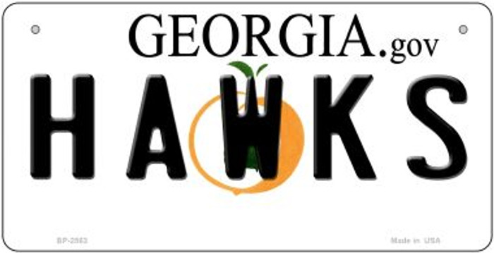 Hawks Georgia Wholesale Novelty Metal Bicycle Plate BP-2563