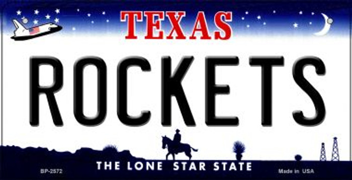 Rockets Texas Wholesale Novelty Metal Bicycle Plate BP-2572