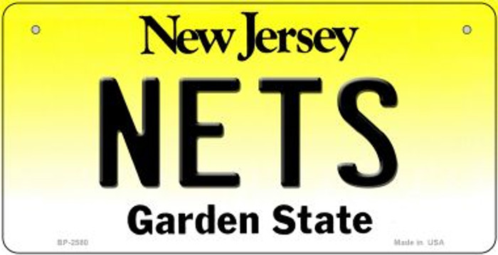 Nets New Jersey Wholesale Novelty Metal Bicycle Plate BP-2580