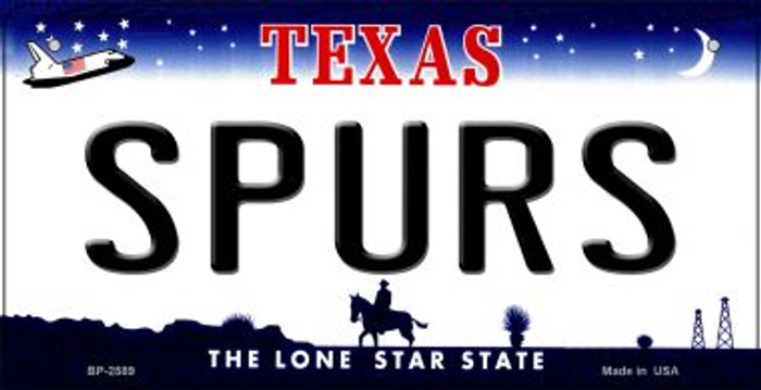 Spurs Texas Wholesale Novelty Metal Bicycle Plate BP-2589