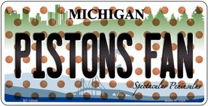 Pistons Fan Michigan Wholesale Novelty Metal Bicycle Plate BP-10855
