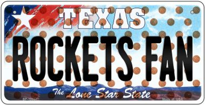 Rockets Fan Texas Wholesale Novelty Metal Bicycle Plate BP-10857