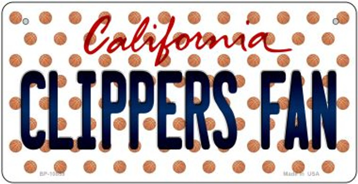 Clippers Fan California Wholesale Novelty Metal Bicycle Plate BP-10859