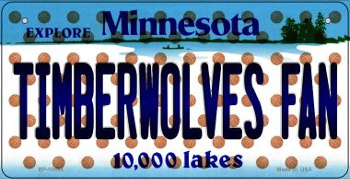 Timberwolves Fan Minnesota Wholesale Novelty Metal Bicycle Plate BP-10864