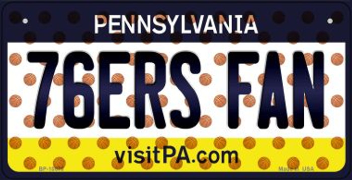 76ers Fan Pennsylvania Wholesale Novelty Metal Bicycle Plate BP-10870