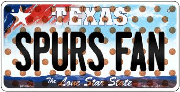 Spurs Fan Texas Wholesale Novelty Metal Bicycle Plate BP-10874